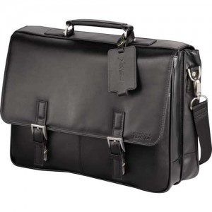 Kenneth Cole Manhattan Leather Computer Bag - Business Gift - Power Of Two Promotions